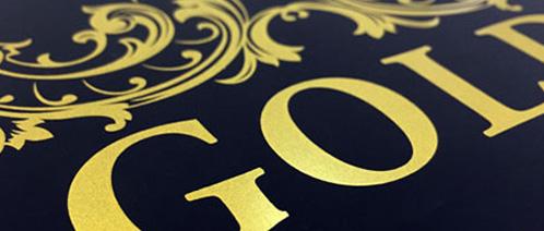 Druk metaliczny złoty i srebrny
