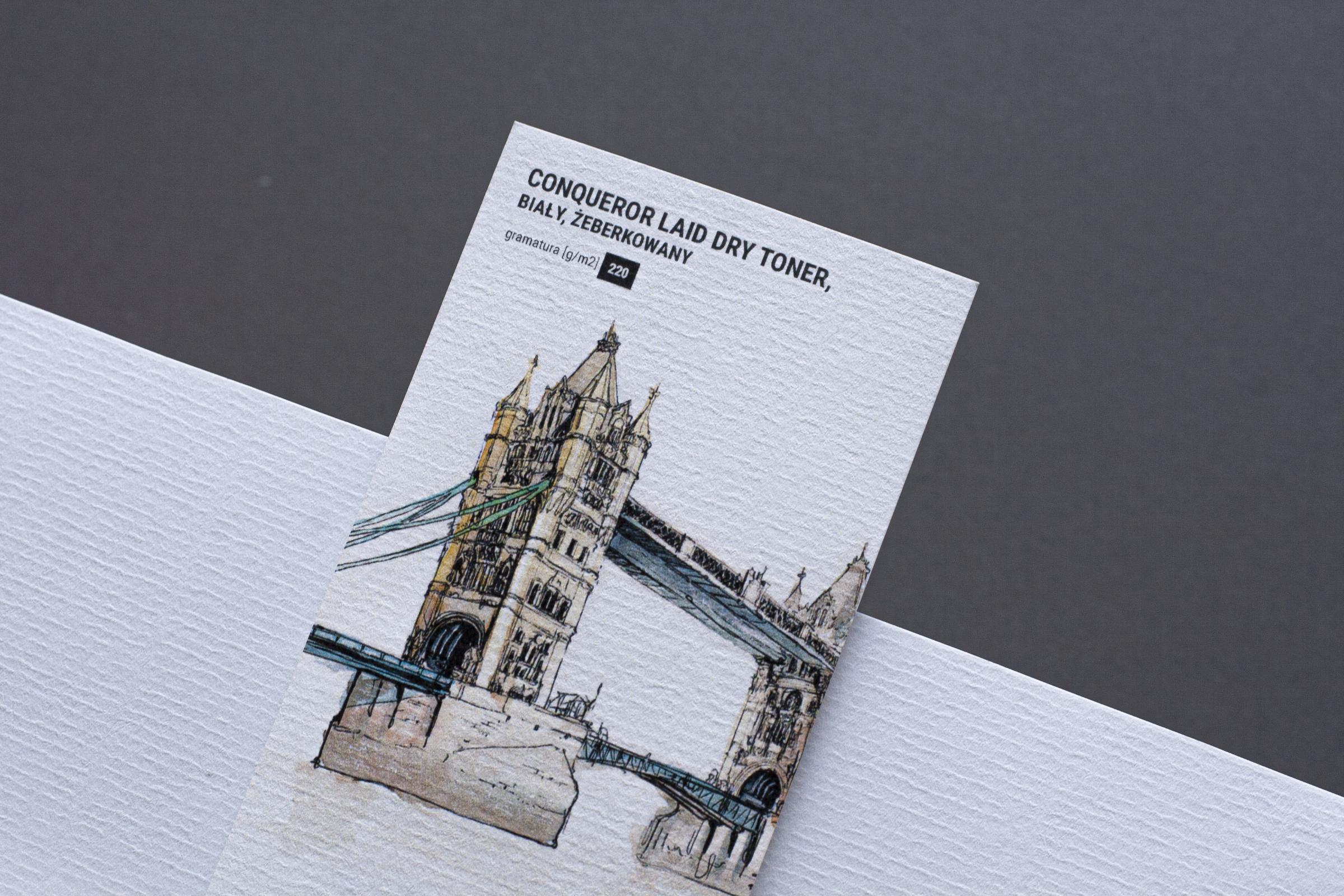 papier conqueror żeberkowany do druku zaproszeń