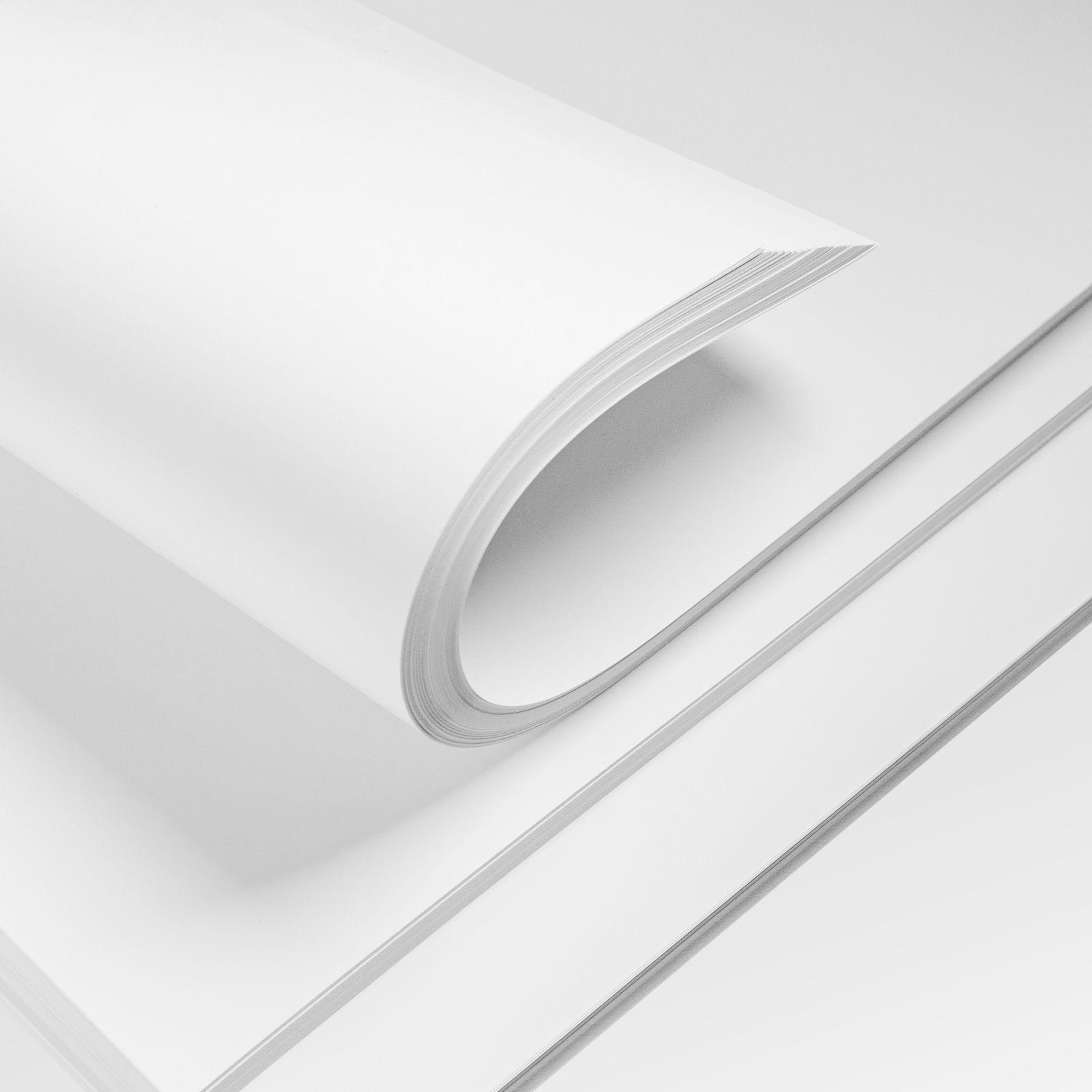 papier satynowany biały